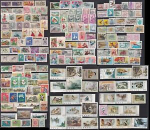 Korea Stamp 1960s-1980s 6 pages of used stamps