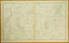 AUTHENTIC CIVIL WAR MAP~ ATLANTA CAMPAIGN -1864