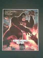 1986 King Kong Lives Vintage Movie Memorabilia Newspaper Promo Trade Print AD