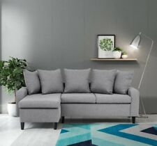 Napoli Corner Sofa Left & Right, Dark Grey, Light Grey or Chocolate Brown