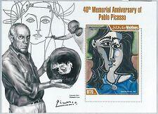 MALDIVES - ERROR, 2013 MISSPERF SHEET: PABLO PICASSO, ART