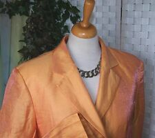 Tolle MARC CAIN  Blazer Jacke  N3  38 Orange rot GLANZ Langarm VINTAGE Leinen