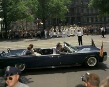 President John F. Kennedy and Jackie in Presidential limousine New 8x10 Photo