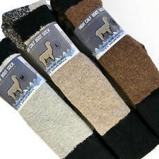 Alpaca Wool Knee High Winter Sock Made in the USA Natural Fiber Neutral Shade