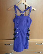 Lip Service Gangsta Pranksta Dress Purple 19820 53165 Goth Cybergoth Size Small