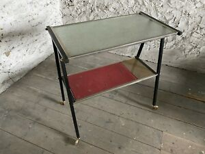 Mid Century French Drinks Trolley / Side Table. 1950s