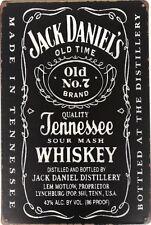 Jack Daniels Rustic Look Vintage Metal Tin Sign Man Cave, Shed,Bar & Home Deco