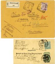 RAVELLO SALERNO WW1 Censored registered Netherlands 1902 Navigation Company Wrap