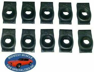 NOSR GM Body Fender Frame Grille Valance 5/16-18 Bolt U Clip Panel J Nut 10pcs H