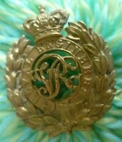 VICTORIAN Royal Engineers Volunteers Cap Badge QVC CURVED Issue ANTIQUE Original