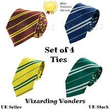 Harry Potter Tie Set Fancy Dress Gryffindor Slytherin Ravenclaw Hufflepuff UK