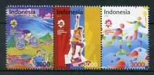 Indonesia 2018 MNH Asian Games Pt II 3v Strip Badminton Cycling Sports Stamps