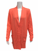 Isaac Mizrahi Women's Essentials Open Front Cardigan with Pockets Large Size