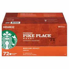 Starbucks Pike Place Medium Roast Coffee K-Cups for Keurig Brewers 72 Exp 3/2021