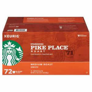 Starbucks Pike Place Medium Roast Coffee K-Cups for Keurig Brewers 72