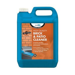 5L BRICK & PATIO CLEANER ACID CEMENT CONCRETE GARAGE WAREHOUSE FLOORS OIL GREASE