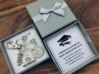 LUCKY SIXPENCE, GRADUATION, university, OWL, CONGRATULATIONS, KEYRING charm gift