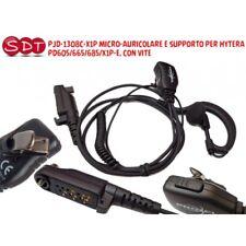 PJD-1308C-X1P MICRO-AURICULAR Y APOYO PARA HYTERA PD605/665/685/X1P-E, CON EL VI