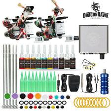 Beginner Tattoo Kit Supplies Equipment 2 Machine Color ink Needle Power Tip Grip