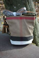 NEW Burberry Ashby Small Canvas Check Crossboy bag for womens