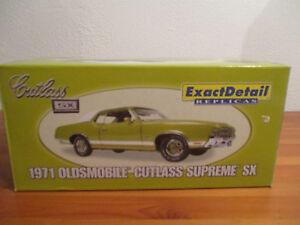 ( GO ) 1:18 Exact Detail Replicas 1971 Oldsmobile Cutlass Supreme SX NEU OVP