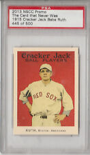 1915 Cracker Jack Babe Ruth - 2013 NSCC Promo PSA - The Card That Never Was /500