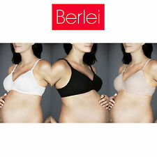 Womens Berlei Barely There Cotton Maternity Breastfeeding Bra Wire Free YZS9