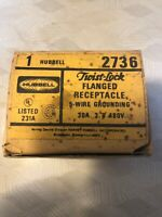 Hubbell HBL2736 Flanged Locking Receptacle 30A 480VAC #44F27