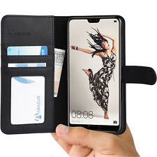 Black Wallet Case Flip Cover w/ Stand for Huawei P20 Pro - by Abacus24-7