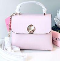 NWT Kate Spade Nicola Romy Twistlock mini Top Handle Bag Tutu Pink Leather NEW