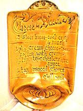 Vintage California Pottery Chip Platter Decorative Cheese & Bacon Dip Recipe EUC