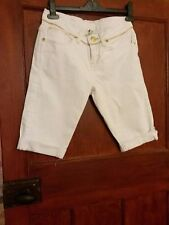 Ladies shorts by Denim,white,half lenght,size10,worn once,very good condition