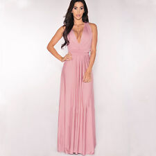 Women Evening Dress Convertible Multi Way Wrap Bridesmaid Formal Long Dresses