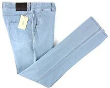 New BRIONI Sunset Blue Handmade Classic Five Pocket Jeans 35 Fits 34 NWT $995