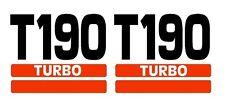 Bobcat T190 Side Decal Sticker Kit Skid Steer Loader Number with Stripes