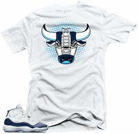 Shirt to match Jordan 11 Navy Win Like 82 Sneakers - Bull 11  White Tee
