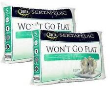 Serta Won't Go Flat Pillow Pillows Standard Size Sertapedic White New Set of 2