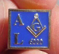 Freemason MASONIC AL 6000 Square Lapel PIN BLUE Enamel Collectible Jewelry