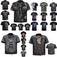 Fashion Men T-Shirt Funny Skull 3D Print T-Shirt Tops Tees Casual Short Sleeve#