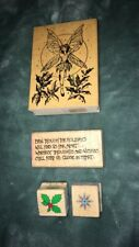Hero Arts/Embossing Arts Holiday Mounted Rubber Stamps. Qty. (4)