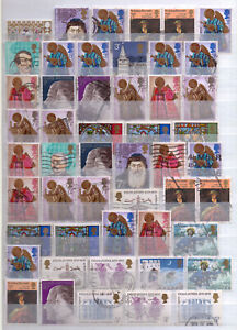 Great Britain used commemorative stamp selection - 73 stamps