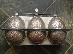 RARE VINTAGE ROWNTREE TRIPLE EASTER EGG CHOCOLATE MOULD MOLD