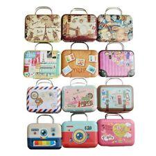 Cute Dollhouse Miniature Metal Luggage Box Suitcase Dolls Mini House Access Y5I0