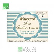 Nacomi Natural Shea Butter Night Cream for Dry Skin with Deep Wrinkles 50+ 50ml