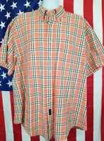 Gant Men's Short Sleeve Button Front Casual Shirt XL 2XL
