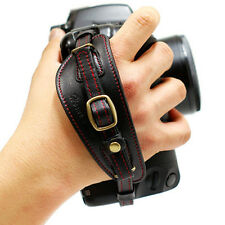 NEW HORUSBENNU D-SLR RF Camera Leather Universal Hand Grip Wrist Strap Black/Red