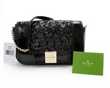 NWT Kate Spade Primrose Sequins Black Bow Crossbody Handbag Purse Tote New $318