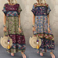 AU STOCK Women Summer Long Maxi Sundress Beach Club Party Plus Size Floral Dress