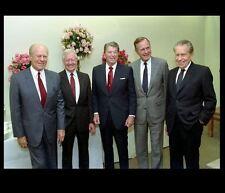 President Ronald Reagan PHOTO Group Carter, George HW Bush, Ford, Richard Nixon
