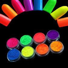 8 Colors/Set Glitter Dust Pigment DIY Nail Art Powder Manicure Neon Phosphor
